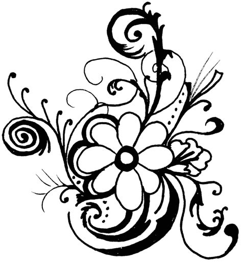 black and white flower clipart black and white flower border clipart clipart panda