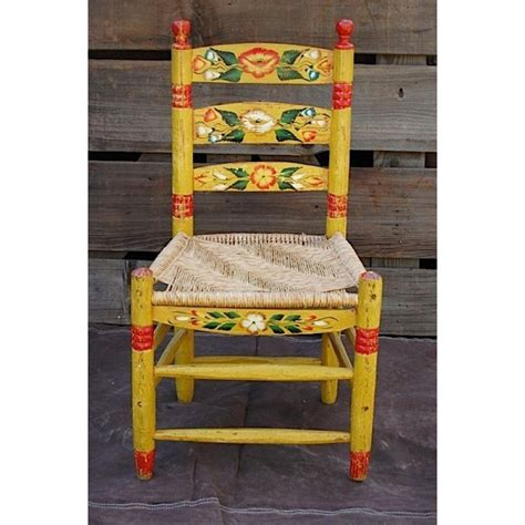 vintage mexican hand painted chair   mexican furniture painted chairs mexican chairs