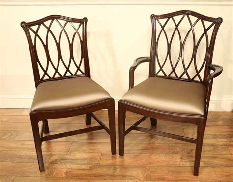 mahogany chippendale chairs  elegant formal dining rooms