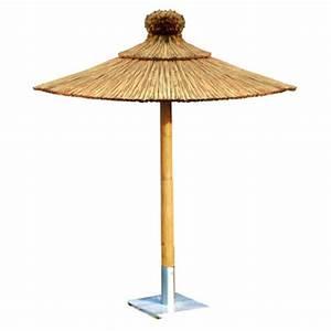 Parasol En Paille : parasol rond en paille publicitaire personnalis ~ Teatrodelosmanantiales.com Idées de Décoration