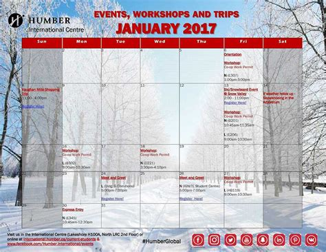 January Student Services Schedule