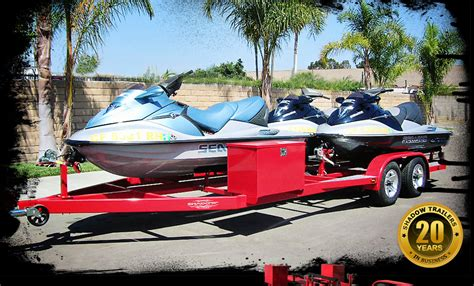 triple jet ski trailers  place pwc trailer custom built  order shadow trailers