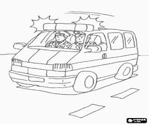ausmalbilder notfall fahrzeuge malvorlagen