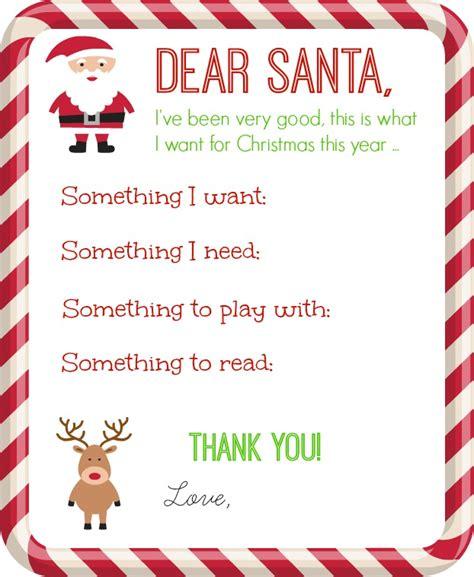 dear santa letter printable organize  decorate