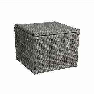 Auflagen Für Loungemöbel : greemotion auflagenbox bari rattan kissenbox in grau kissen auflagen truhe aus polyrattan ~ Markanthonyermac.com Haus und Dekorationen