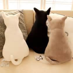 cat pillows 45cm creative cat silhouette cushions plush doll