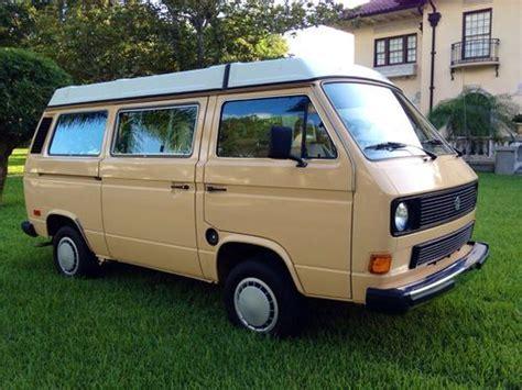 volkswagen westfalia cer sell used 1985 volkswagen vanagon westfalia cmobile van