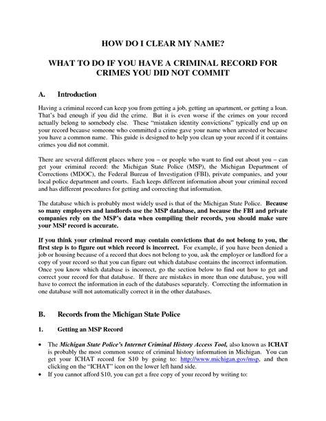 Fingerprints Request LetterVolunteer Police Clearance