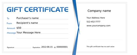 Gift Certificate Template Free Gift Certificate Template Free Bamboodownunder