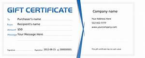 Free business gift certificate template for Certificate of organization template