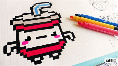 There are two types of brushes: Handmade Pixel Art - How To Draw Kawaii Soda #pixelart ...