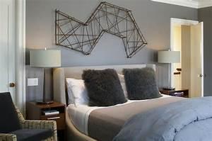 murs et ameublement chambre tout en gris tendance With chambre grise et beige