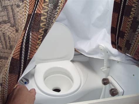 clever rv bathroom trash  idea   cereal container
