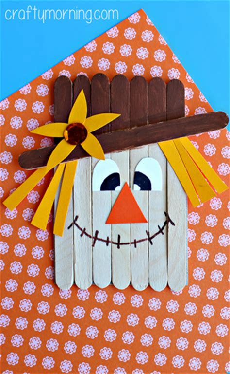 popsicle stick scarecrow craft  kids pictures
