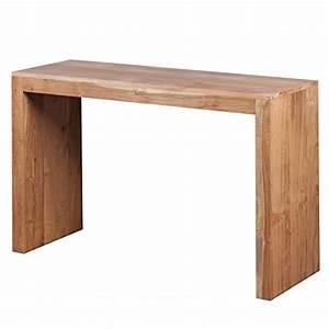 Table Bois Massif Design : wohnling table console bois massif design console bureau 115 x 40 cm style maison de campagne de ~ Teatrodelosmanantiales.com Idées de Décoration