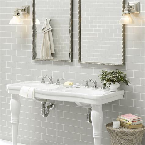 light grey metro wall tiles from crown tiles
