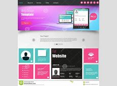 Colorful Website Design Template Stock Vector Image