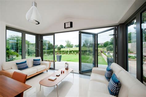 modern kitchen lounge extension contemporary sunroom