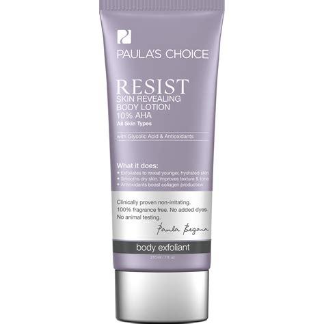 resist skin revealing  aha body lotion paulas choice