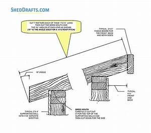 8 U00d710 Lean To Garden Shed Plans Blueprints For Beautiful