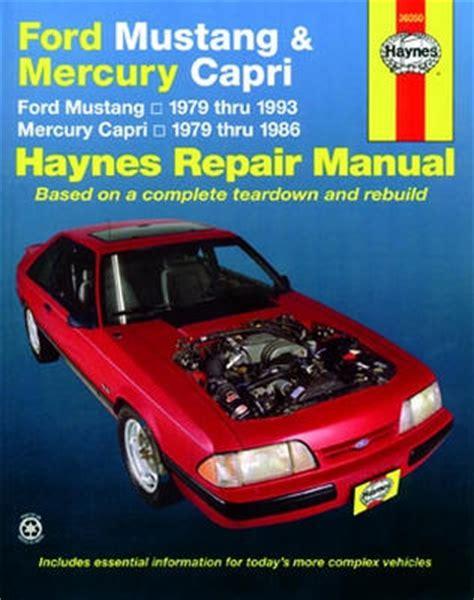 auto air conditioning repair 1995 ford mustang lane departure warning ford mustang mercury capri haynes repair manual 1979 1993 hay36050