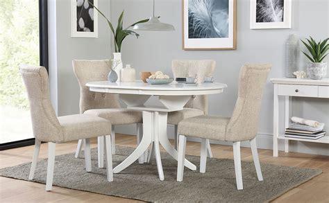 hudson  white extending dining table   bewley