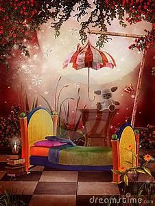 Fairy Garden Designs Red Bedroom Royalty Free Stock Photos Image
