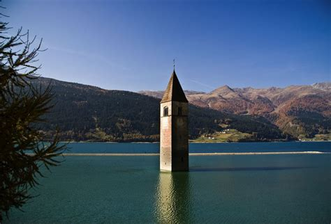 lake reschen italy amazing places