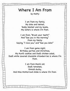 forever in first where i39m from freebie With where i am from poem template