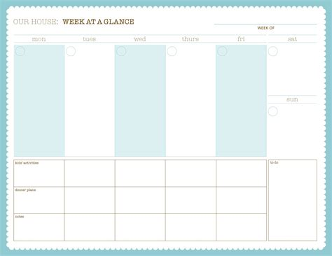week at a glance calendar love that paper solution kristen lunceford