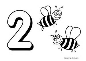 Number 2 Printable Coloring Pages