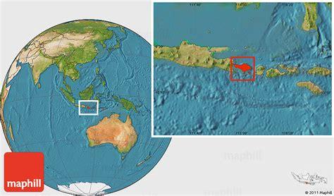 satellite location map  bali