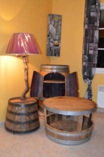 upcycled wine barrel furniture  pallets
