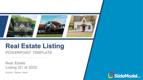 real estate listing powerpoint template slidemodel
