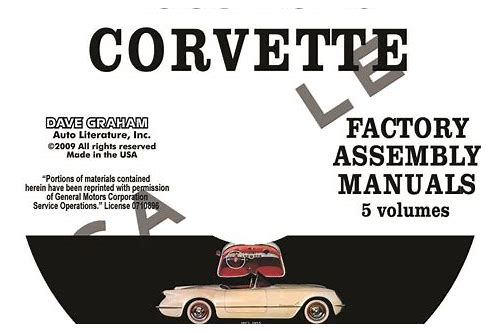 1968 corvette assembly manual download