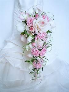 Bouquet De La Mariée : bouquet de mari e cascade rose rose blanc calla arum ~ Melissatoandfro.com Idées de Décoration