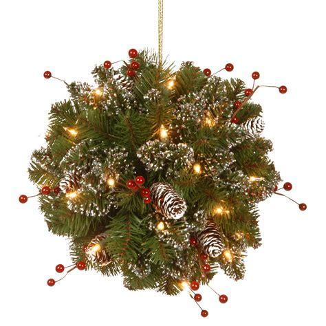 National Tree Company 12 in. Glittery Mountain Spruce LED