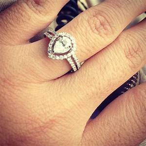 tear drop engagement ring weddings pinterest With tear drop wedding ring