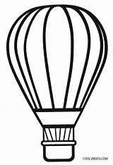 Balloon Coloring Air Preschool Printable Cool2bkids sketch template