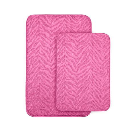 garland rug zebra pink      washable bathroom
