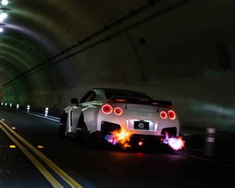 Gtr Shooting Flames Wallpaper by R1 Concepts Inc Performance Brake Parts