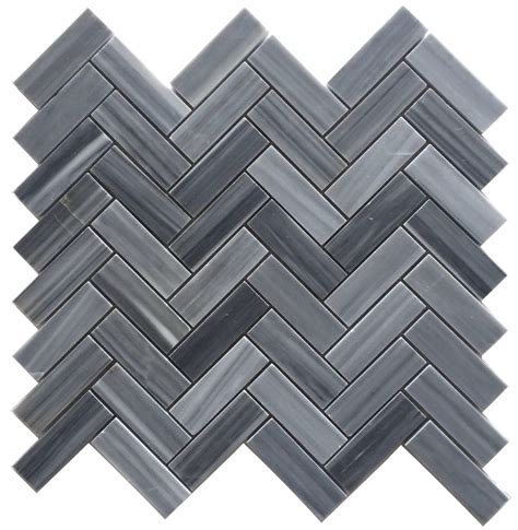 grey herringbone tile bardiglio gray 1x3 quot herringbone polished marble mosaic tile