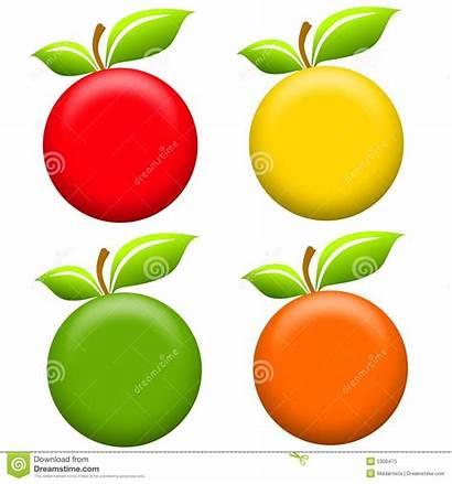 Apples Clip Round Orange Number Yellow Illustration