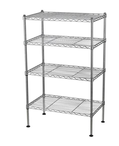 Wire Shelving by 4 Tier Wire Shelving Rack Metal Shelf Adjustable Unit