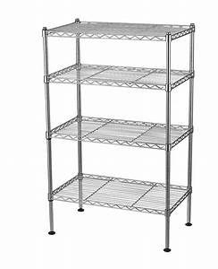 4 Tier Wire Shelving Rack Metal Shelf Adjustable Unit Garage Kitchen Storage New 695636685488