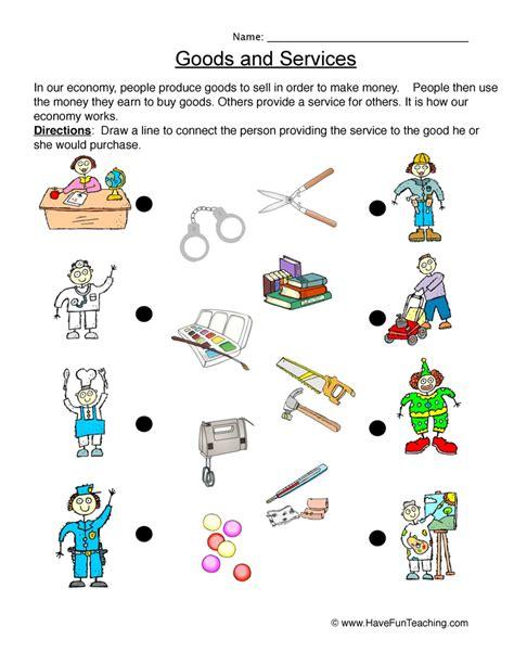 goods  services worksheet