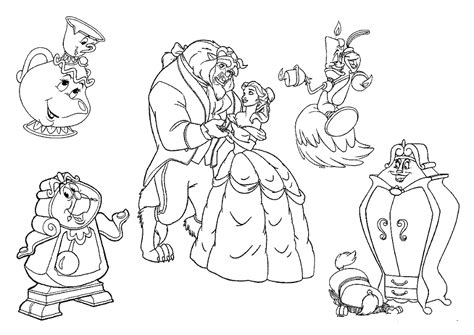 Disney Beauty And The Beast Coloring Pages