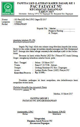 Berikut contoh surat rekomendasi kegiatan sekolah : Contoh Surat Undangan Rapat Nu