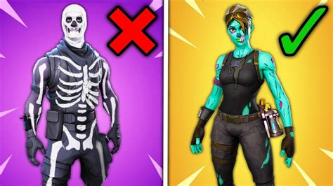 top  overrated fortnite skins ranked worst