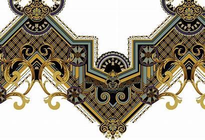 Baroque Pattern Embroidery Border Motives Borders